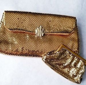 Whiting and Davis clutch and coin purse vintage